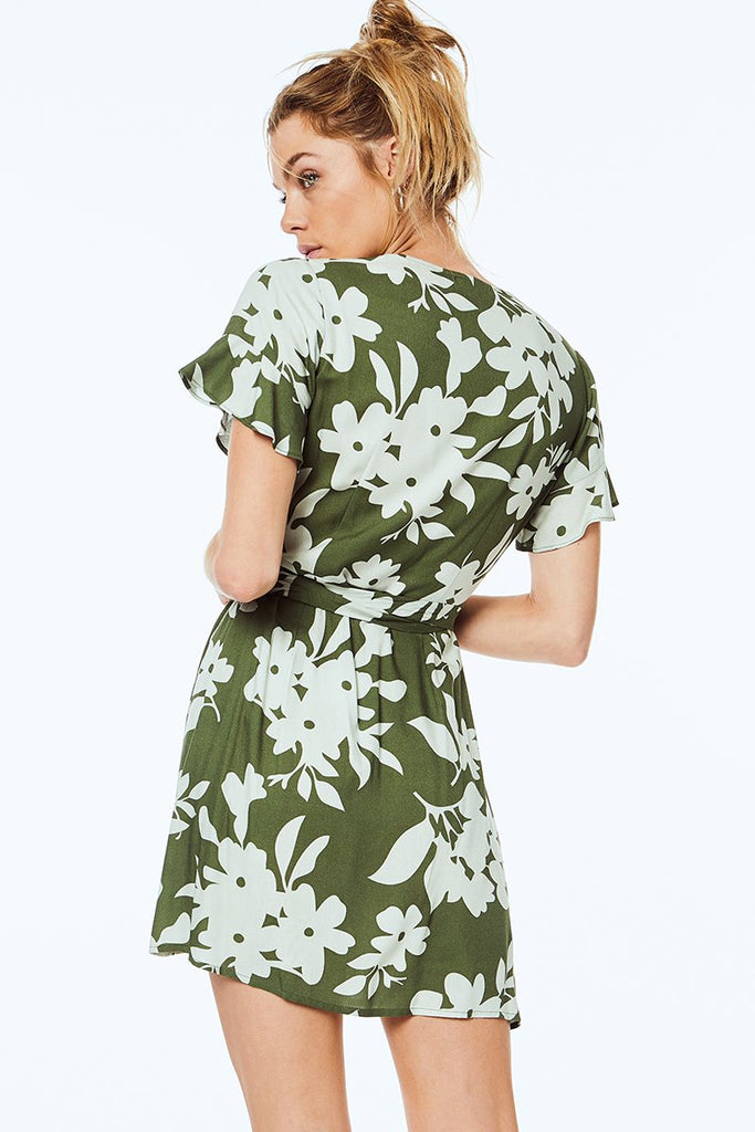 Kate-Floral-Wrap-Dress/Twiin