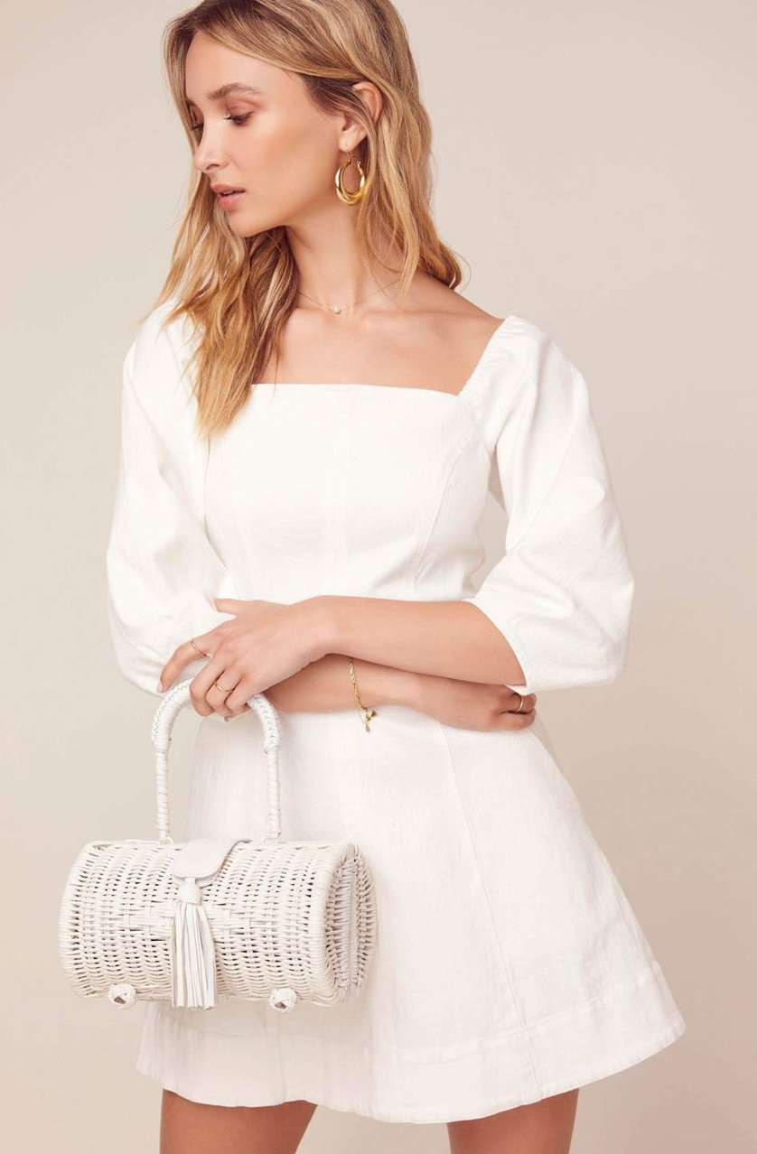 The Rabia Dress in White