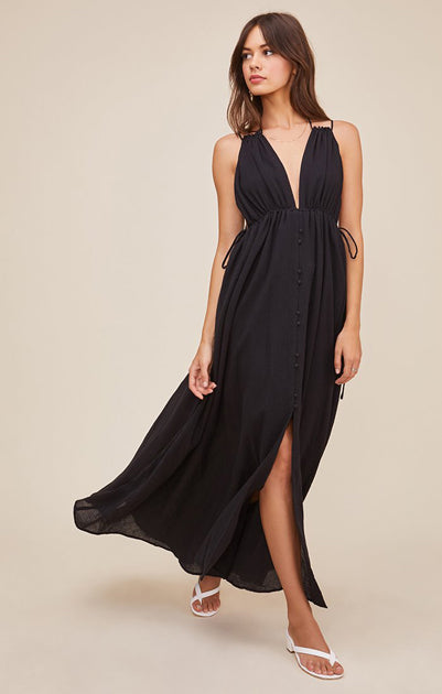 The Amalfi Dress in Black