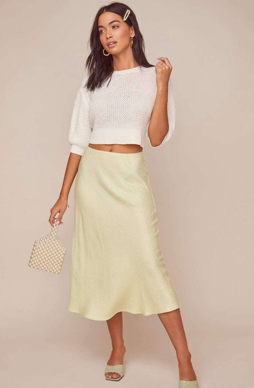 The Nava Skirt in Celery