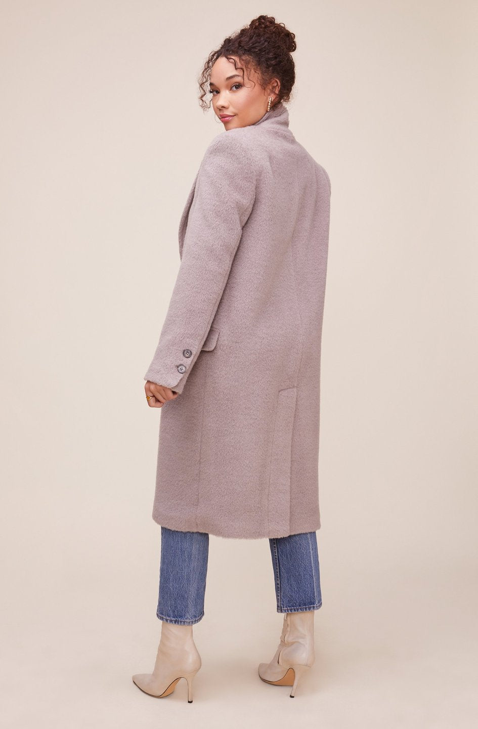 The Blair Coat in Taupe