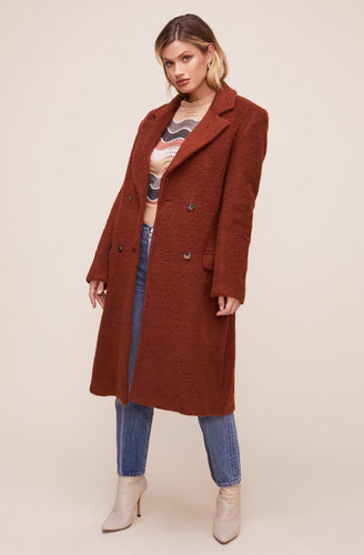 The Blair Coat in Cinnamon