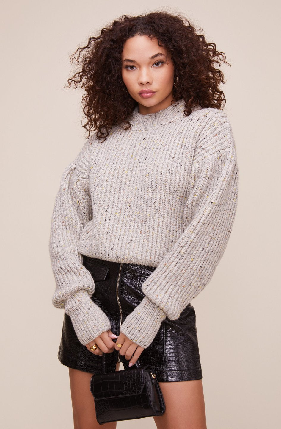 The Regis Sweater in Grey Speckle