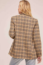 Load image into Gallery viewer, The Greta Blazer in Mustard Plaid