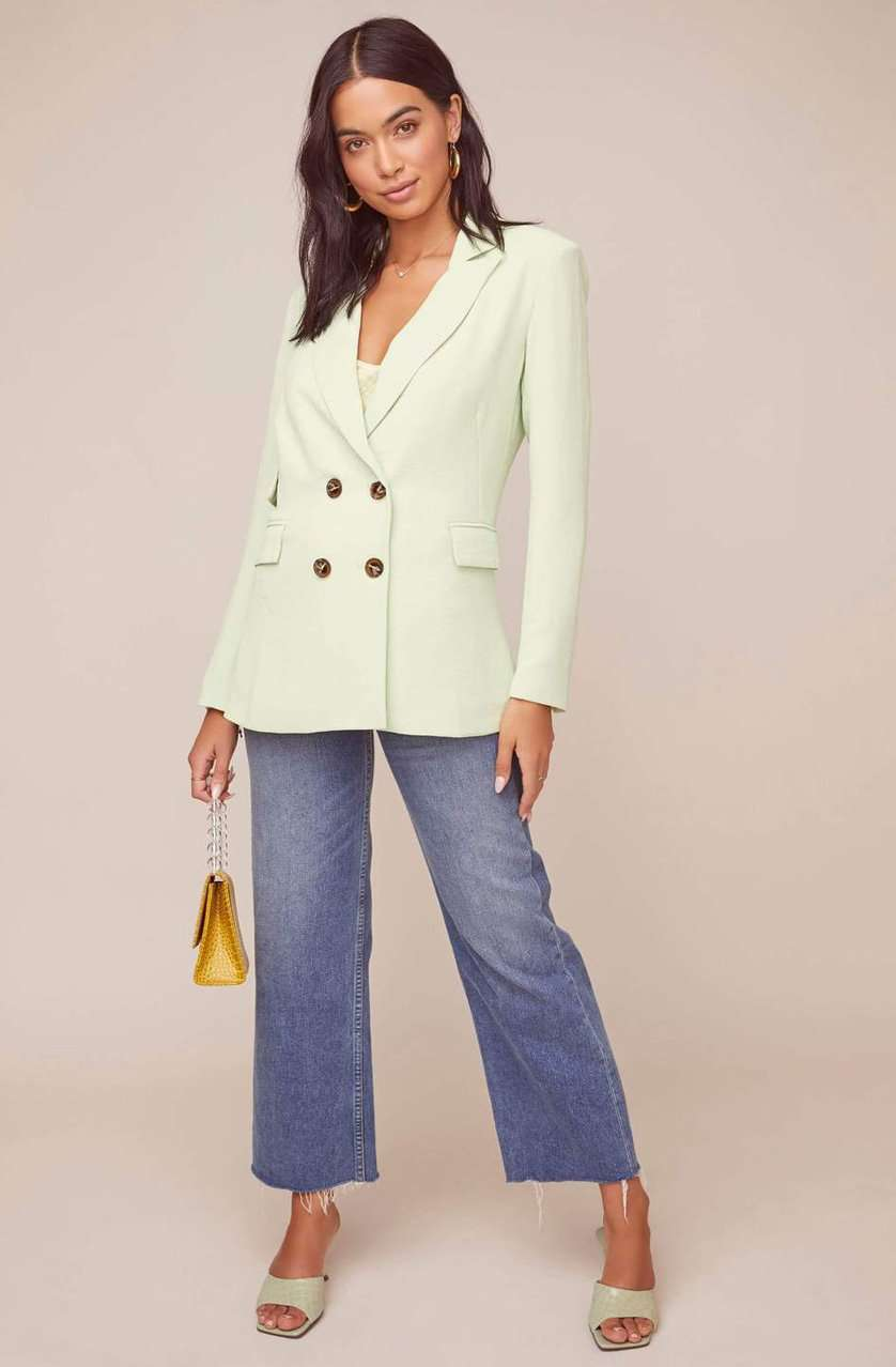 The Zodiac Blazer in Mint