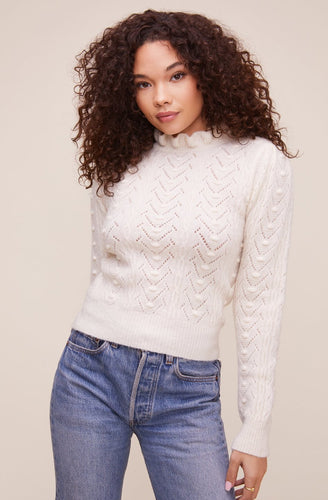 The Sally Sweater in Cream