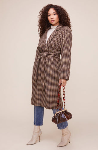 The Roxanne Coat in Mocha