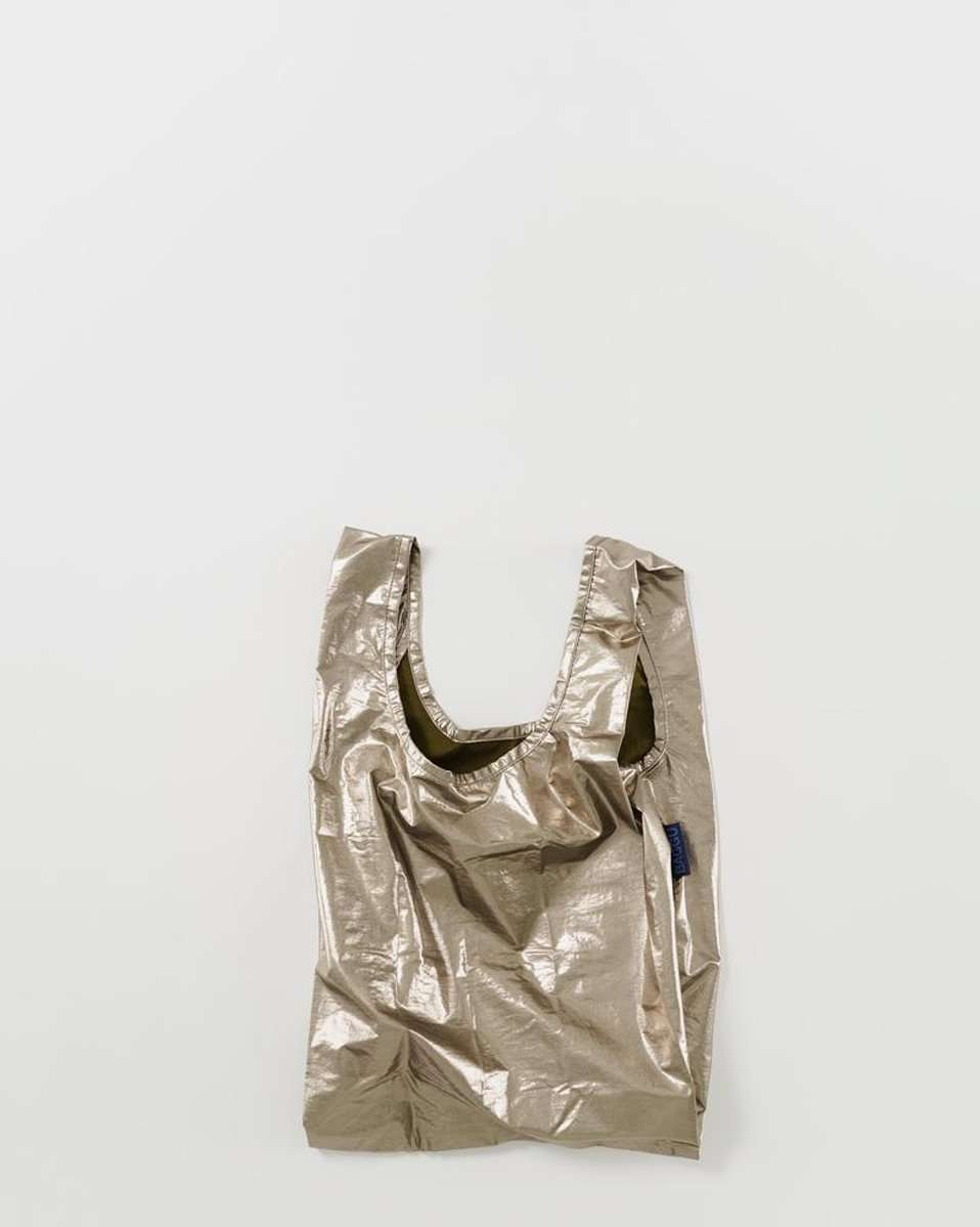 The Baby Baggu in Bronze Metallic