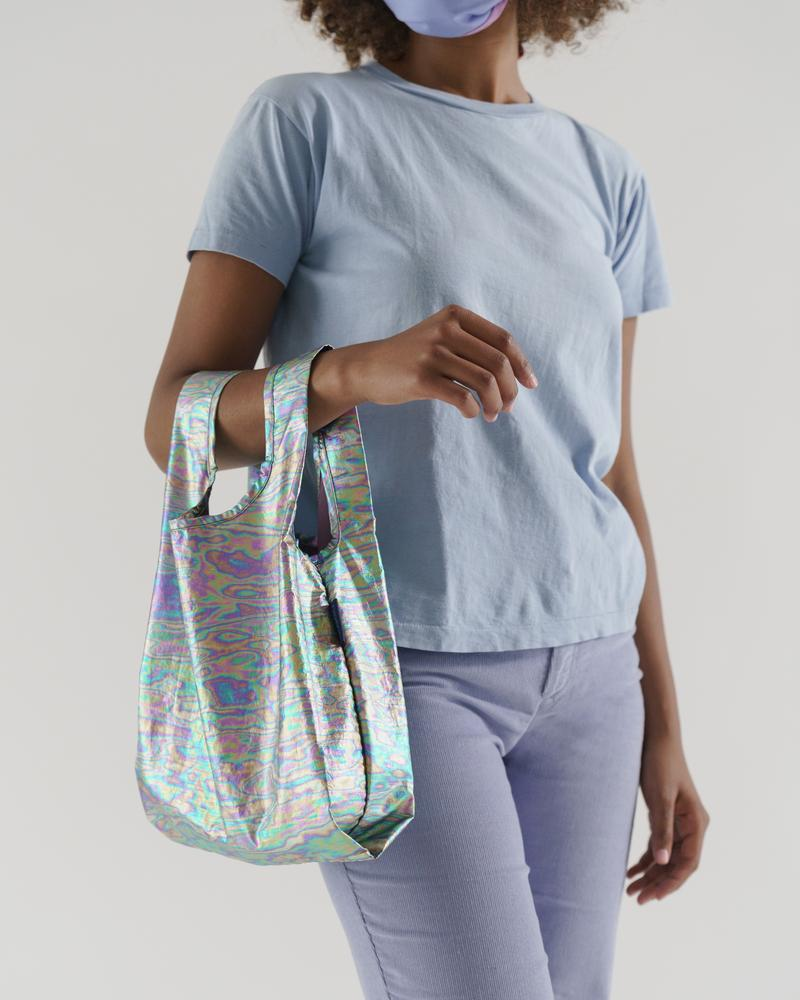 The Baby Baggu in Rainbow Metallic