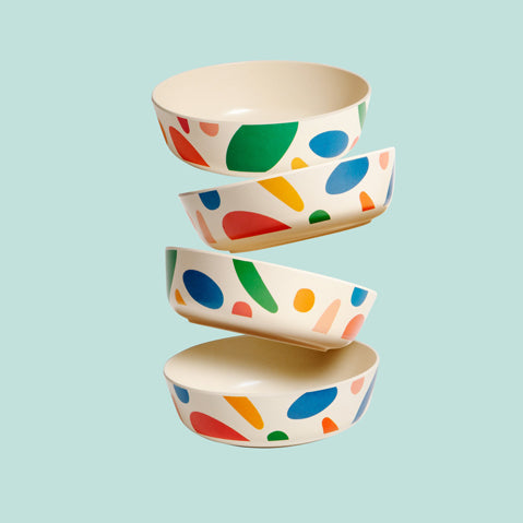 The Bamboo Bowl Set in Blots