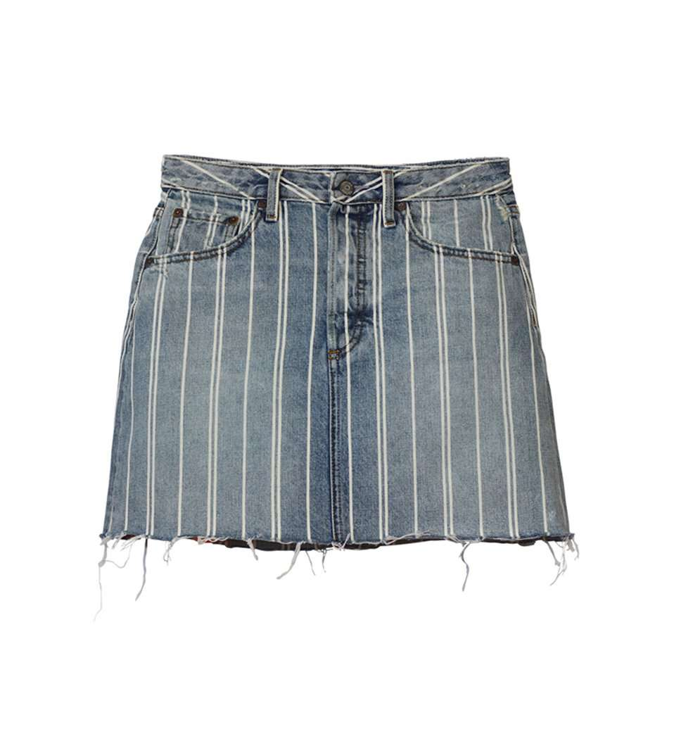 The Corey Denim Skirt in They Made Me A Criminal