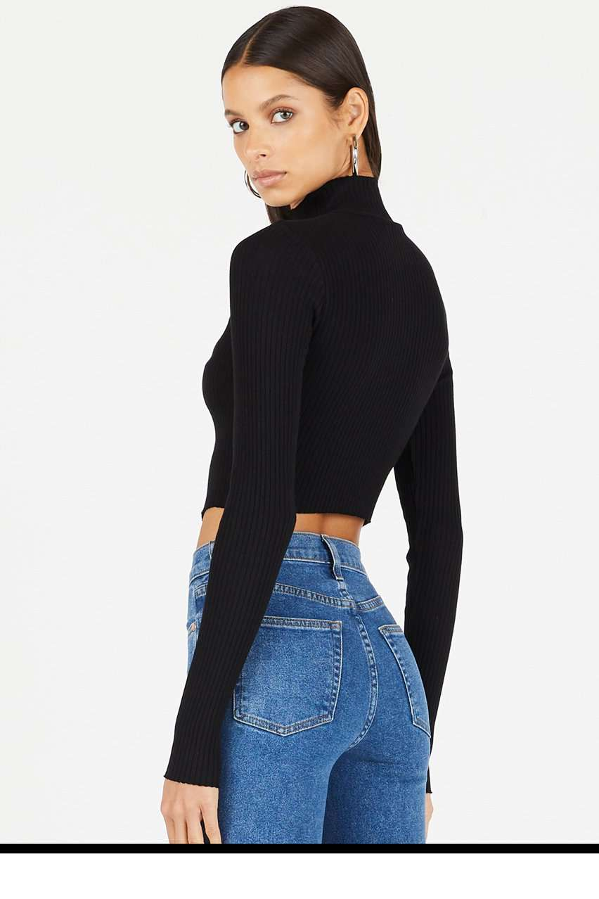 The Ibiza Turtleneck in Jet Black