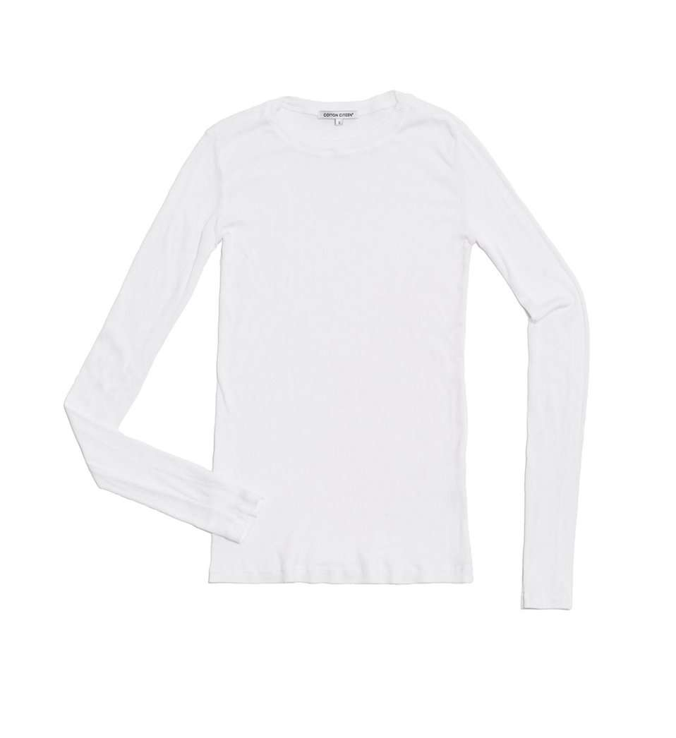 The Venice L/S Tee in White