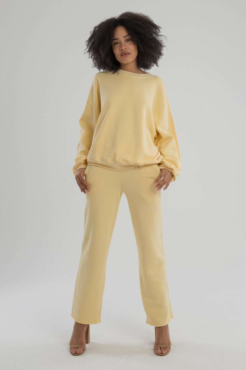 The Brooklyn Oversized Crew in Daffodil