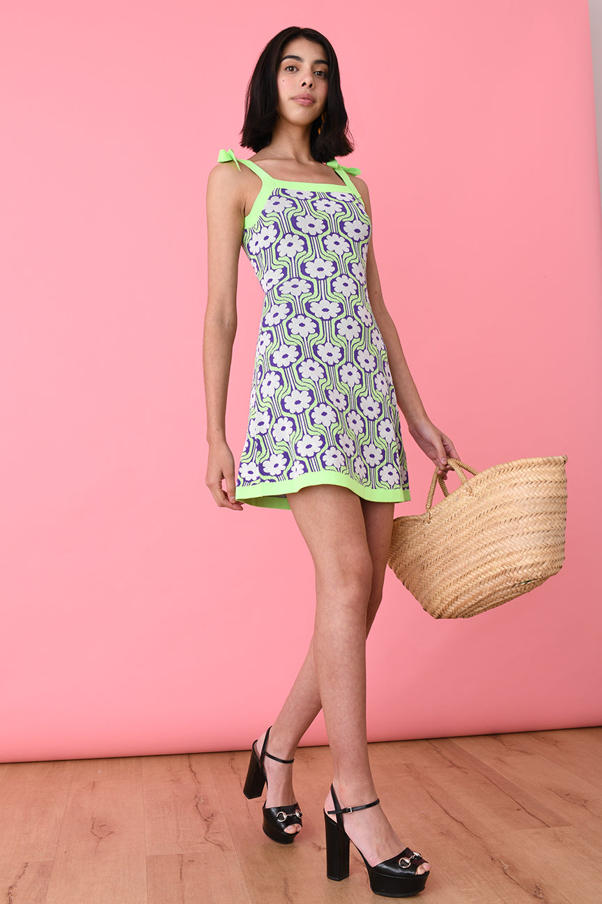 The Camisole Dress in Neon Floral
