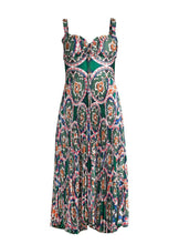 Load image into Gallery viewer, The Amora Dress in Green Multi