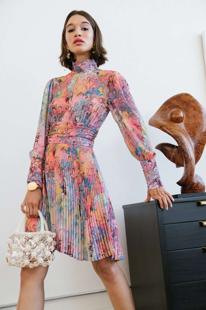 The Raquel Dress in Multi