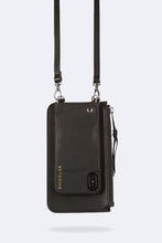 Load image into Gallery viewer, The Emma Pouch in Black/Silver