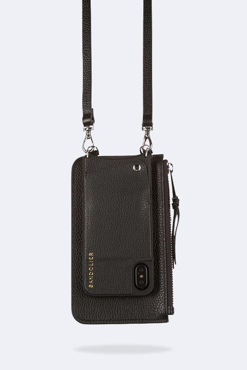 The Emma Pouch in Black/Silver