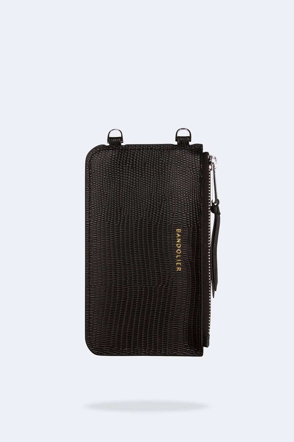 The Emma Wave Pouch in Black Silver