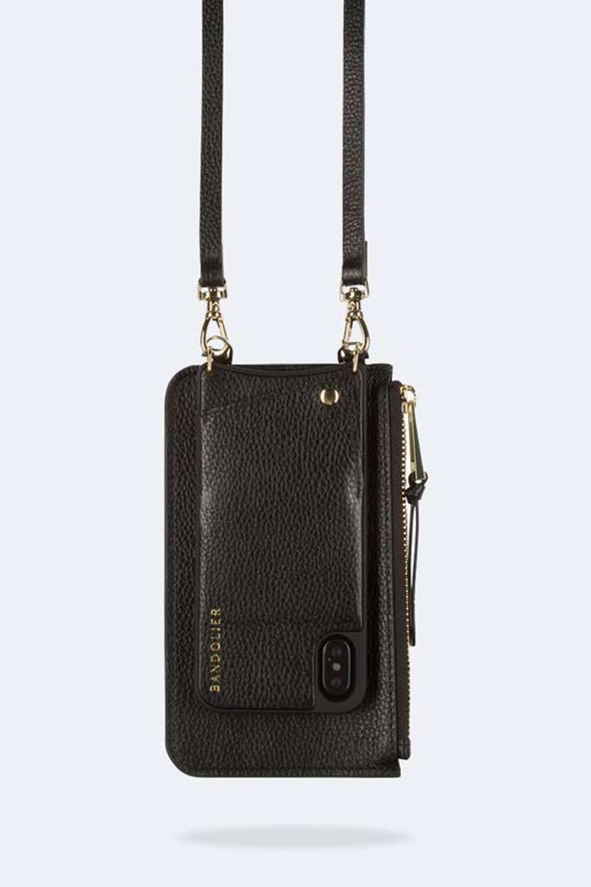 The Emma Pouch in Black/Gold