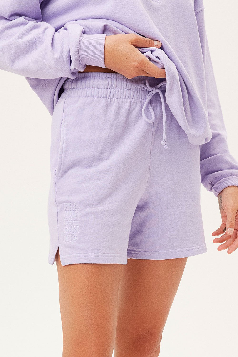 The Burl Sweatshort in Lilac