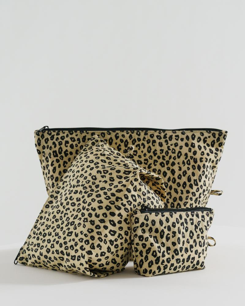 The Go Pouch Set in Honey Leopard