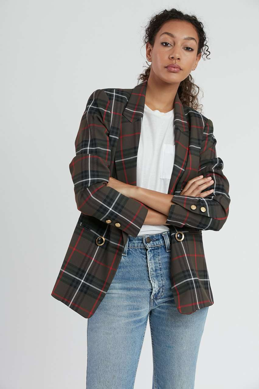 The DB Blazer in Army Tartan