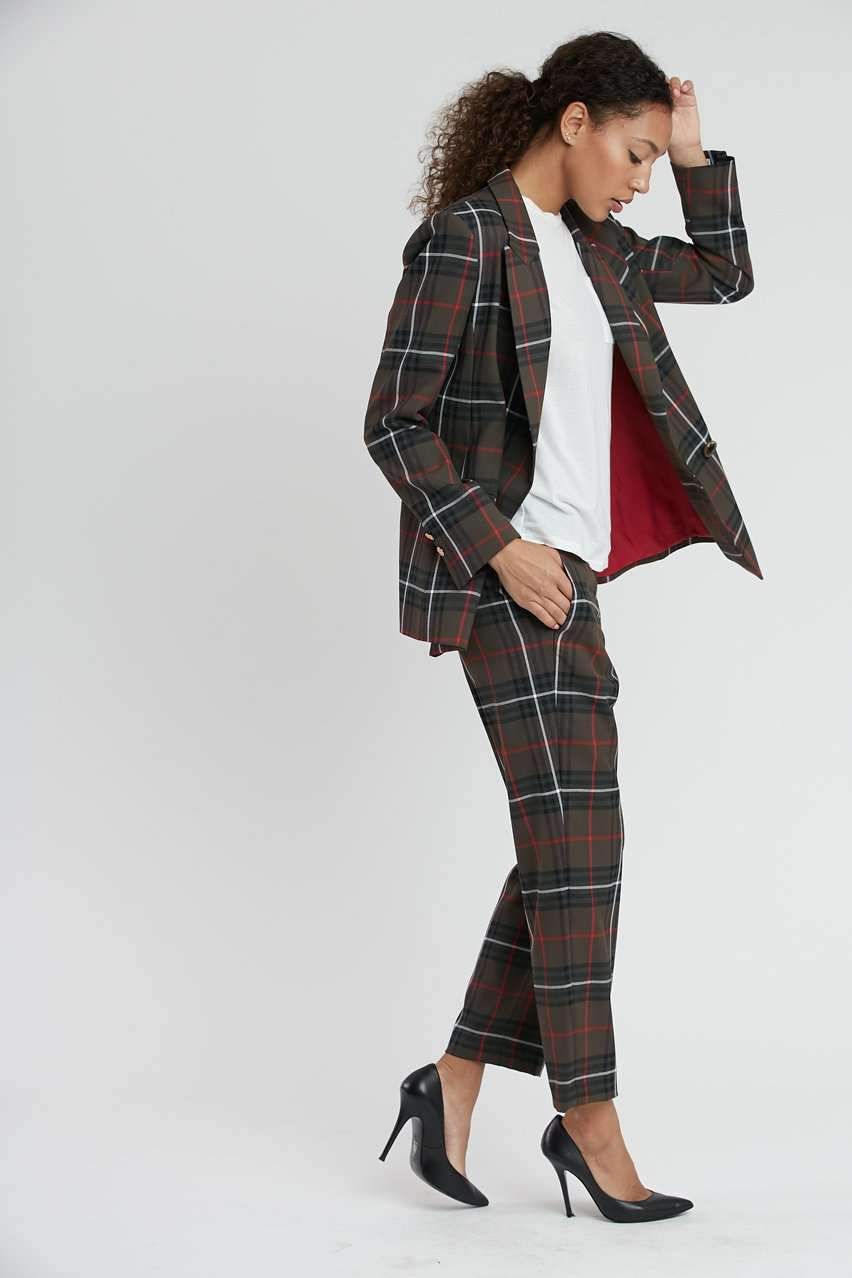 The Flat Front Trouser in Army Tartan