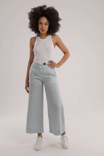 The A-Line Crop Pant in Indigo Blue