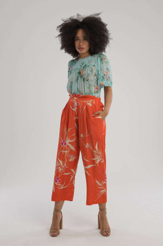 The Paperbag Pant in Coral