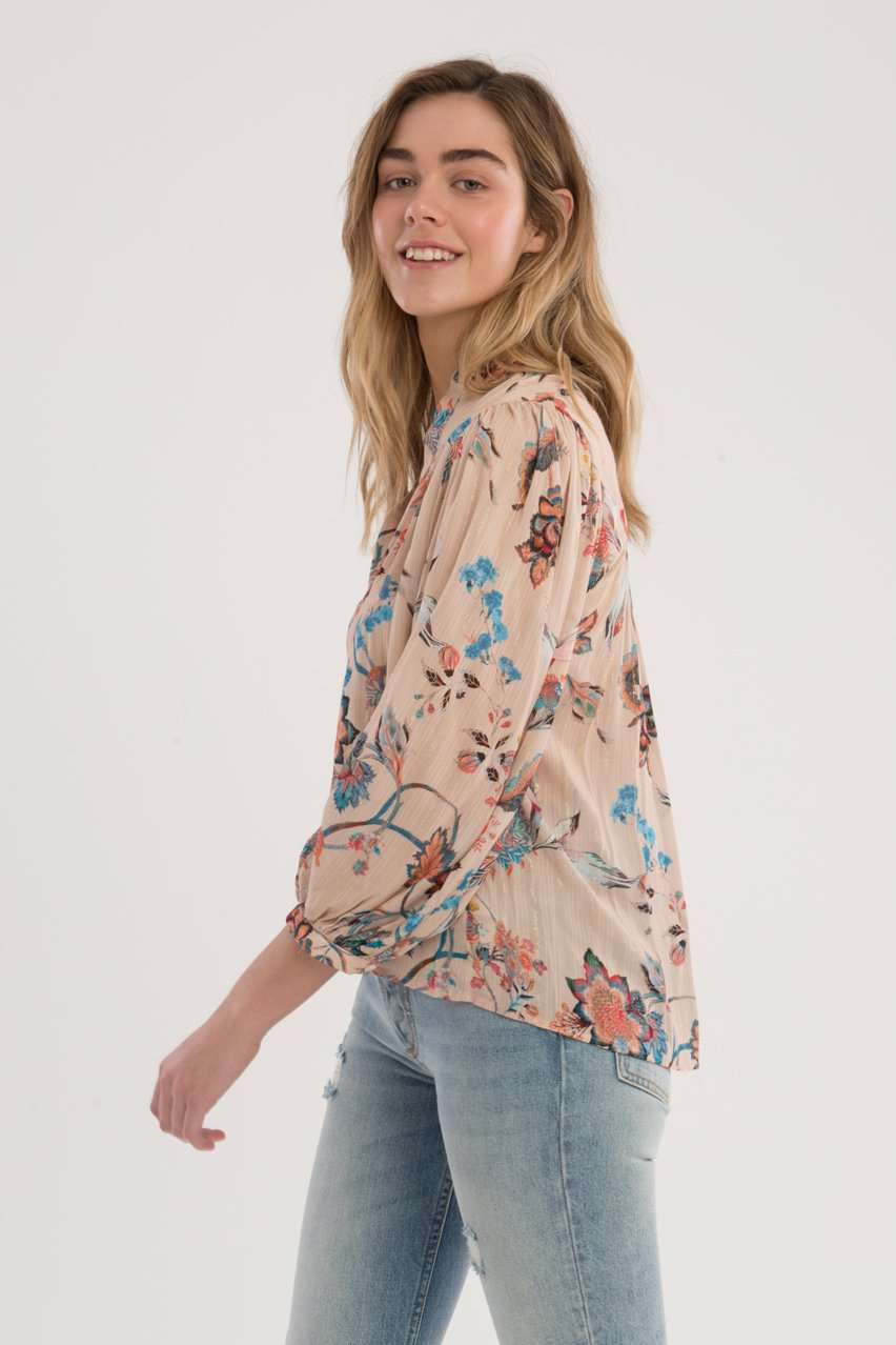 The Modern Poet Top in Floral