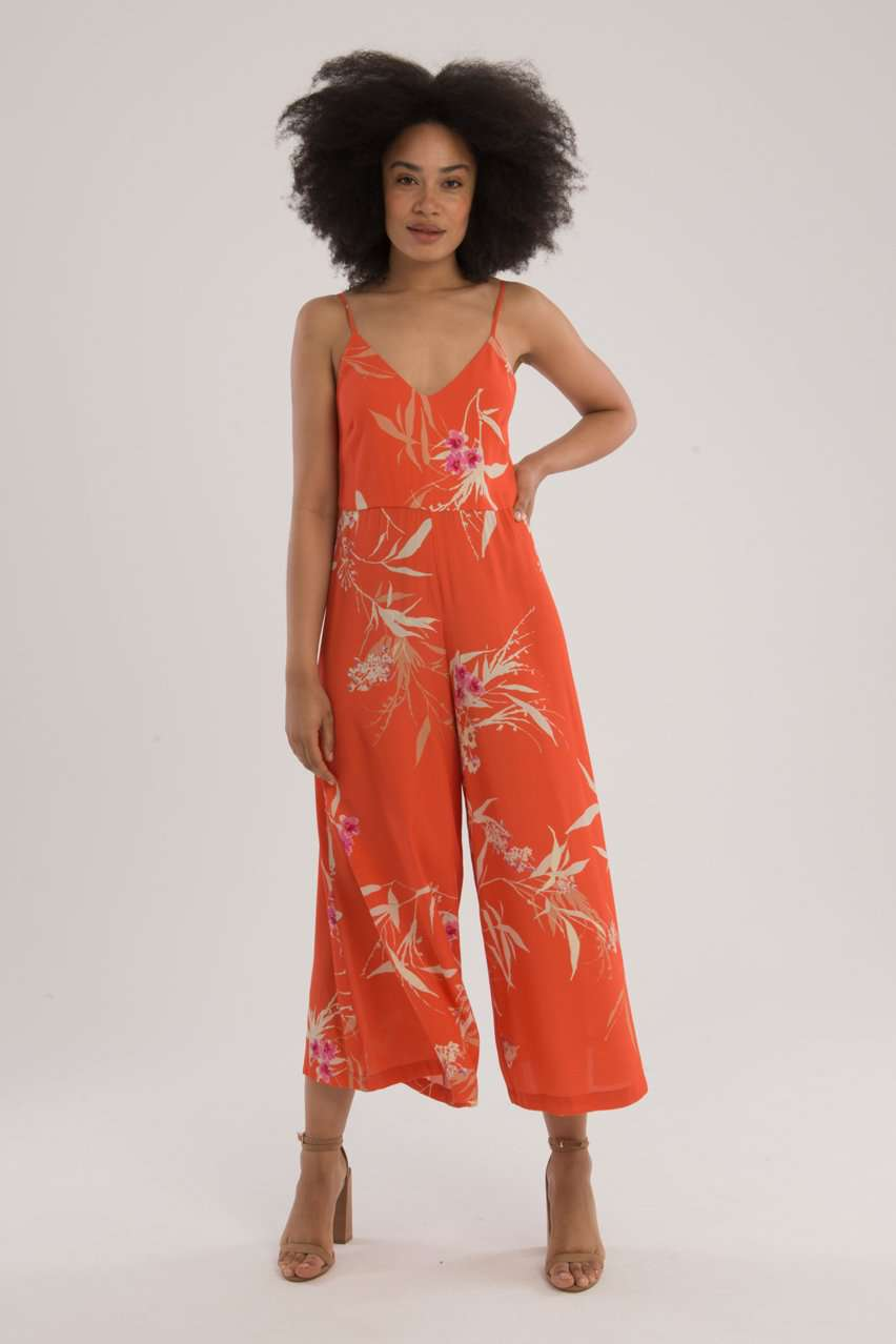 The Winona Jumpsuit in Coral