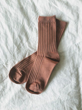 Load image into Gallery viewer, The Mercerized Cotton Socks in Nude Peach