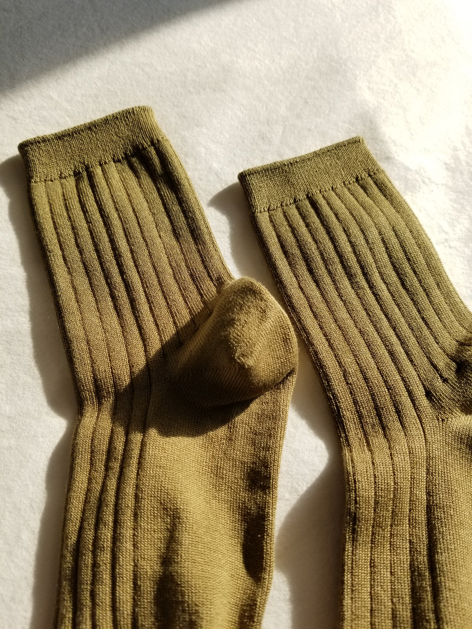 The Mercerized Cotton Socks in Pesto