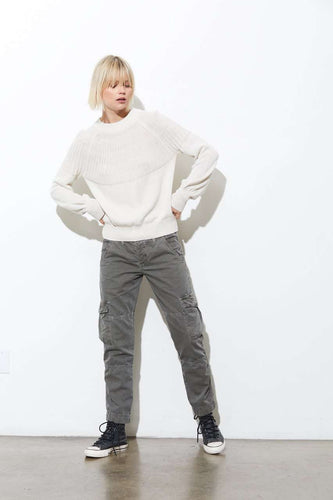 The Jazlyn Wide Neck Crew in Chromium