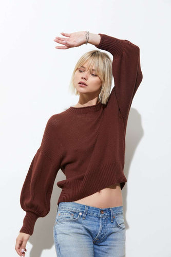The Elsie Drop Shoulder in Peppercorn