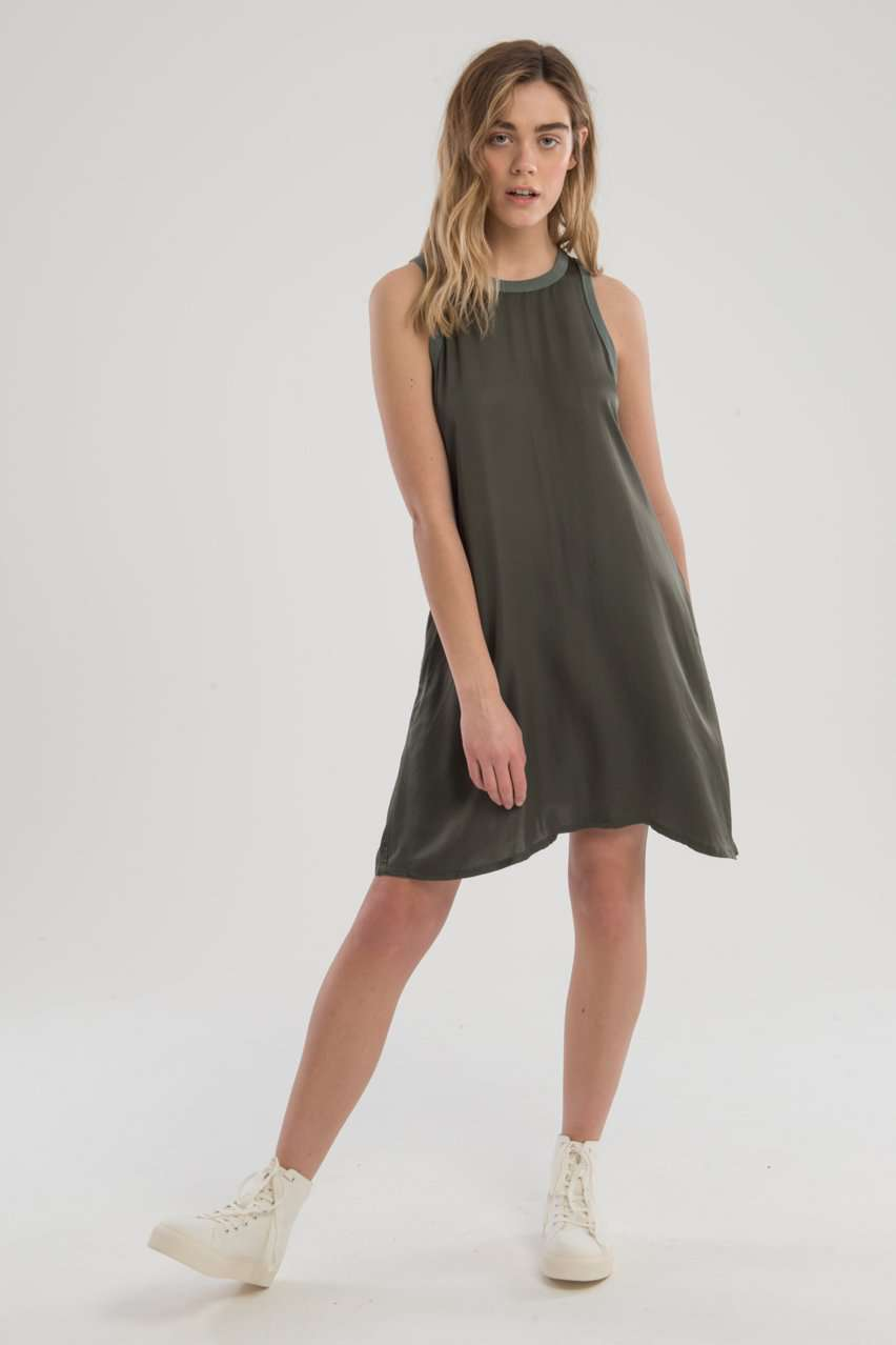 The Piper A-Line Dress in Green
