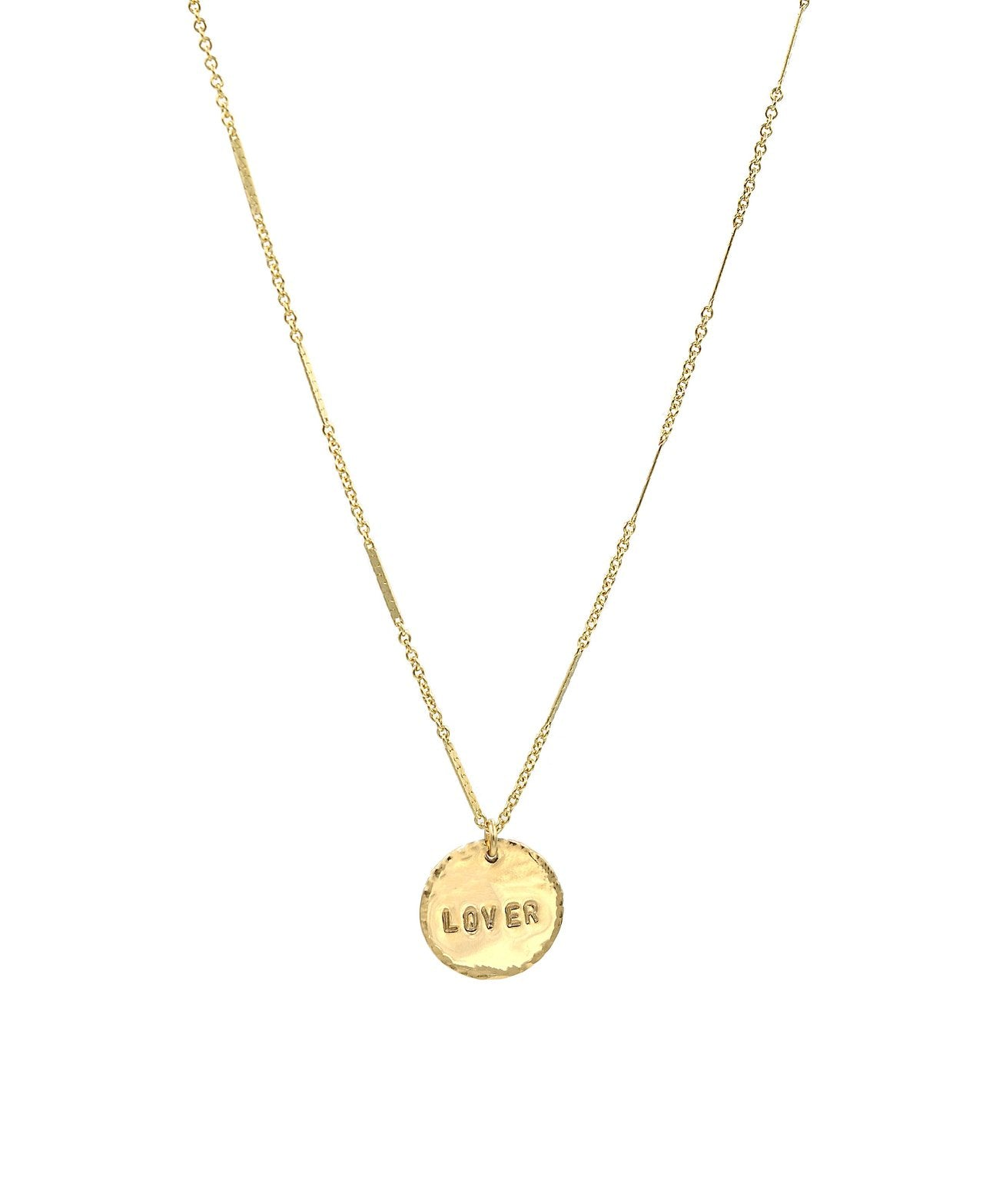 The Say It Coin Necklace in Lover