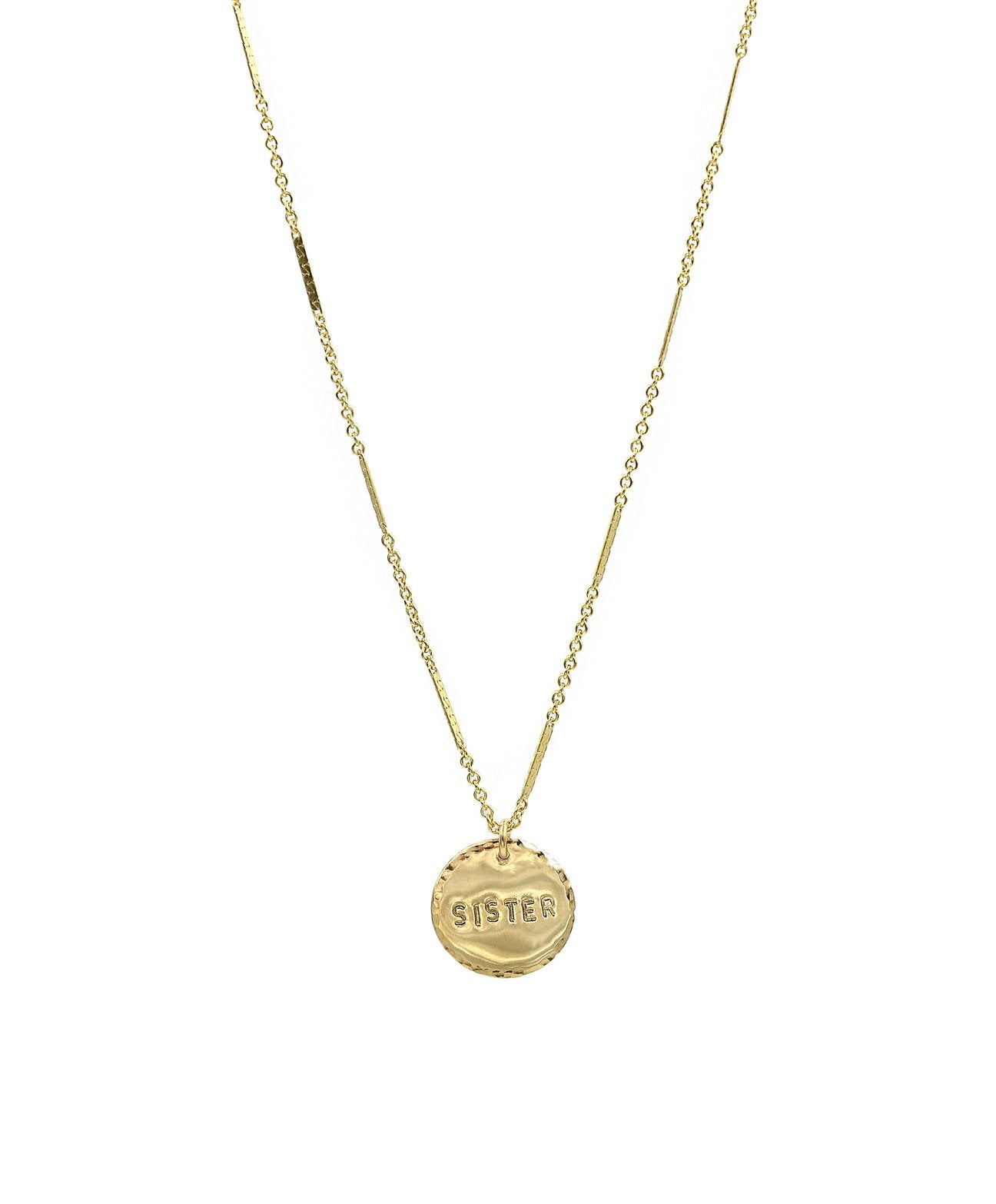 The Say It Coin Necklace in Sister