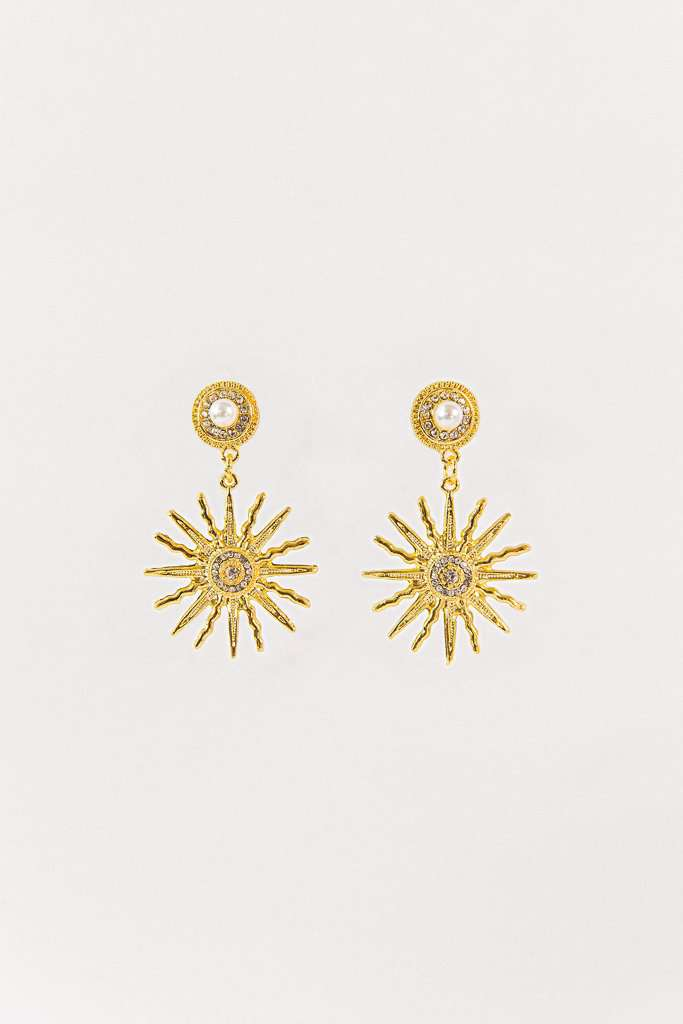 The Starburst Earrings in Gold