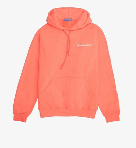 The Geo P Hoodie in Retro Coral