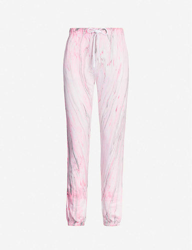 The Milan Sweats in Hot Pink Marble