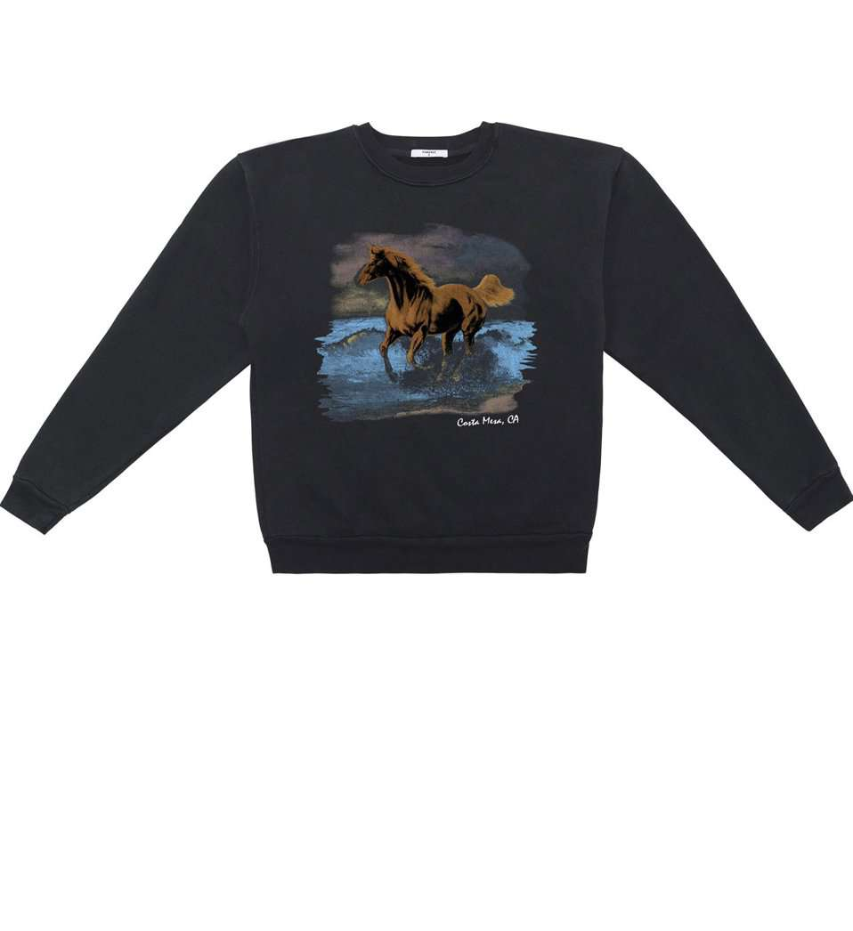 The Seahorse Sweatshirt in Black