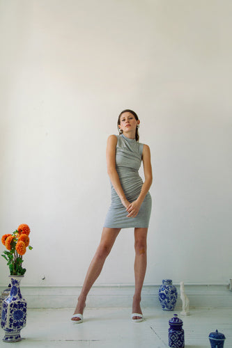 The Ayme Dress in Heather Grey