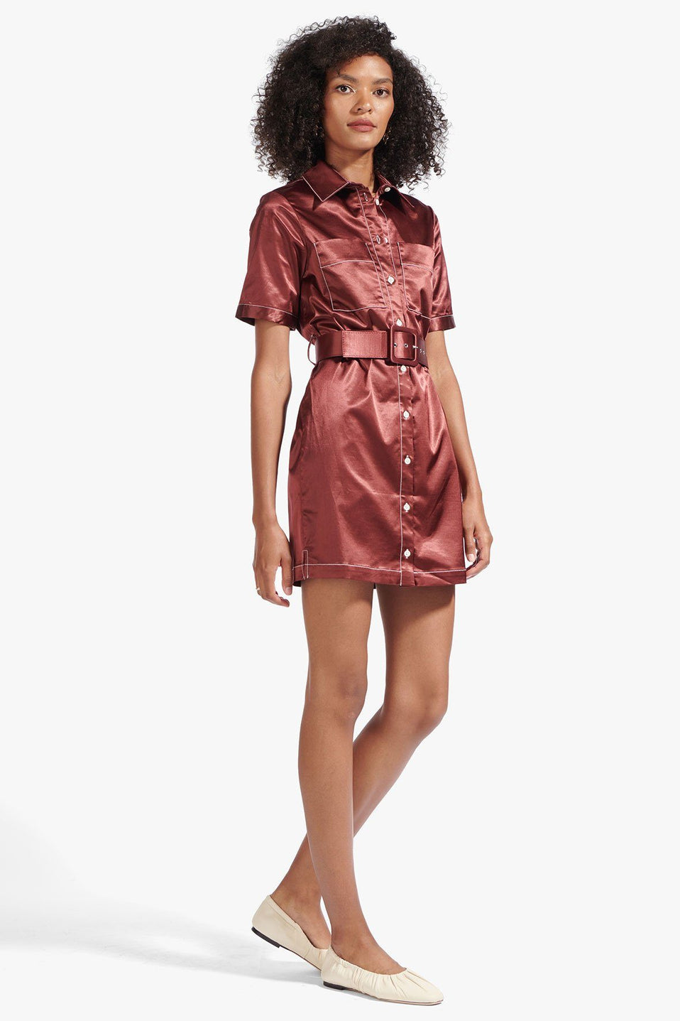 The Bentley Dress in Tawny Port