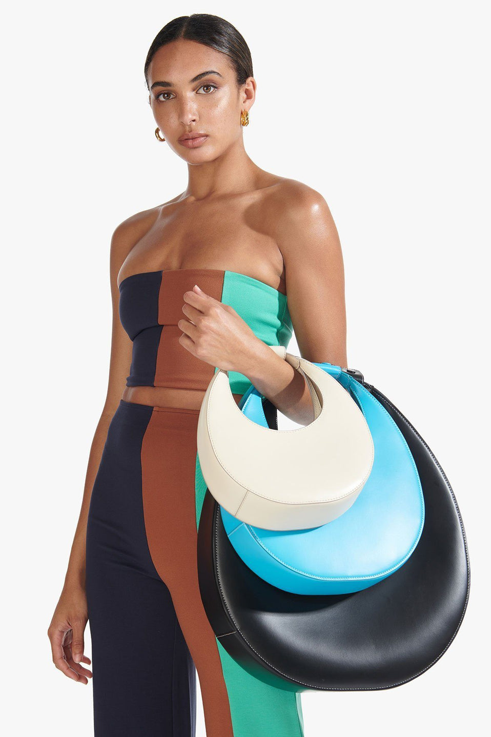 The Moon Tote Bag in Bright Blue