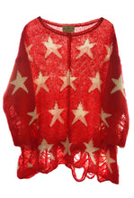Load image into Gallery viewer, The Seeing Stars Lennon Sweater in Red