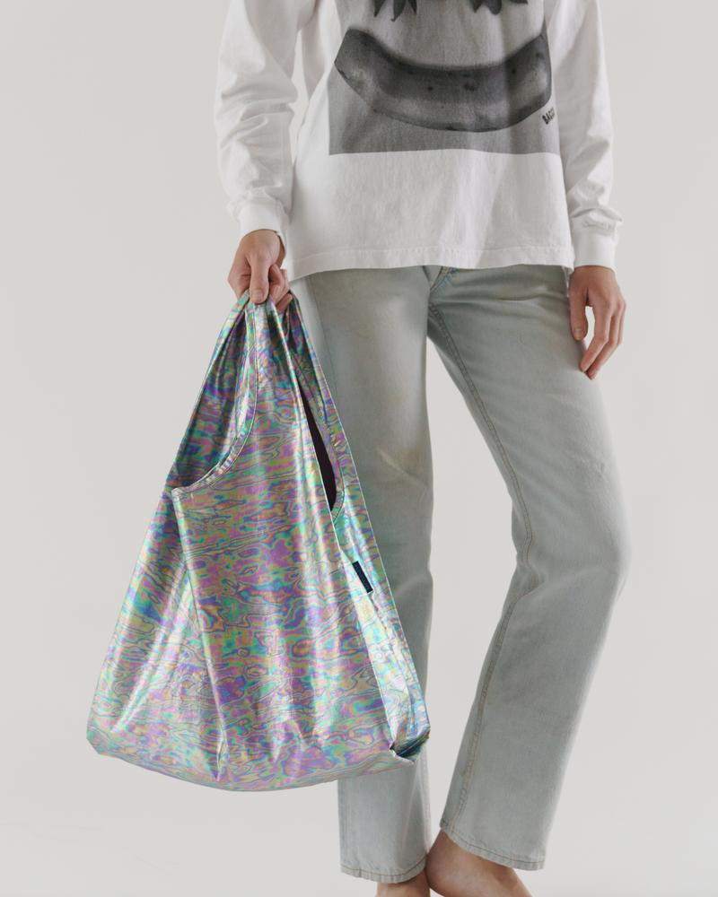 The Standard Baggu in Rainbow Metallic