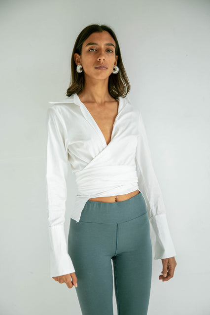 The Jett Wrap Top in White